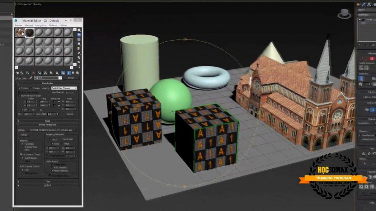 Khóa học miễn phí – Unwrap Mapping trong 3DS Max