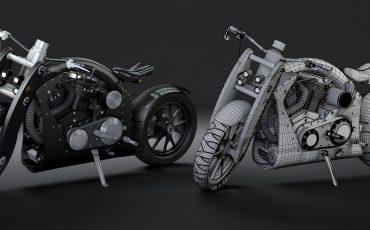 Hướng dẫn dựng hình chiếc môtô bằng 3D Max cực chất