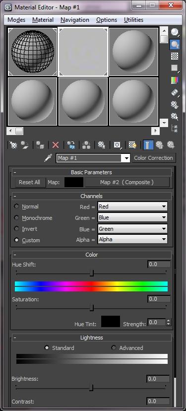 Hướng dẫn sử dụng thông số Color Correction trong 3d max
