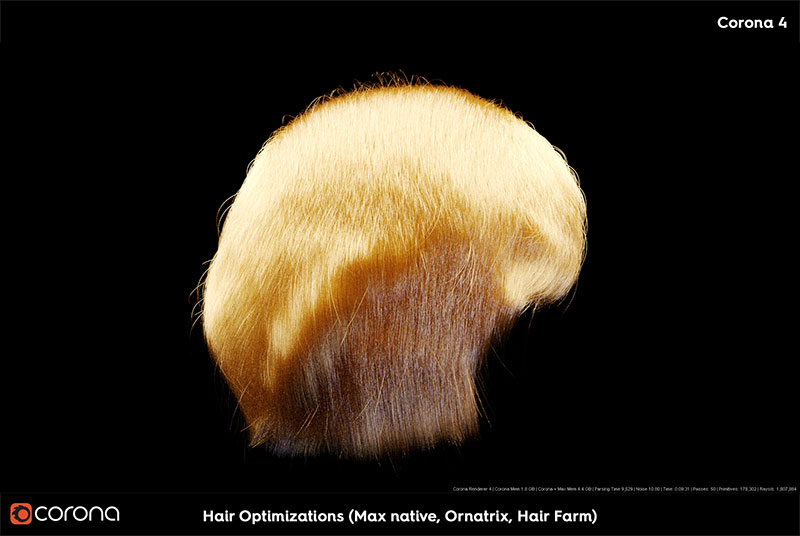 Corona Renderer 5 Hair Optimizations