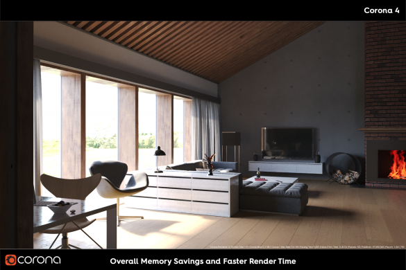 Corona render Memory and Render Time Savings