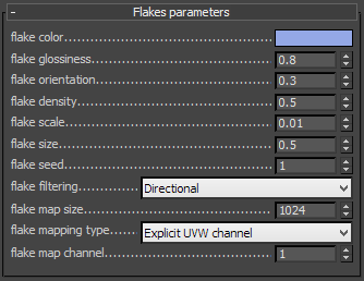 Flake Layer Parameters