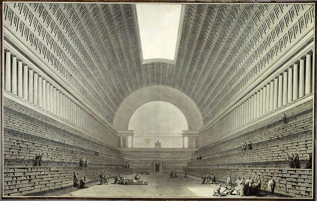 Boullée, Dự án thứ hai cho Thư viện của Nhà vua (1785)