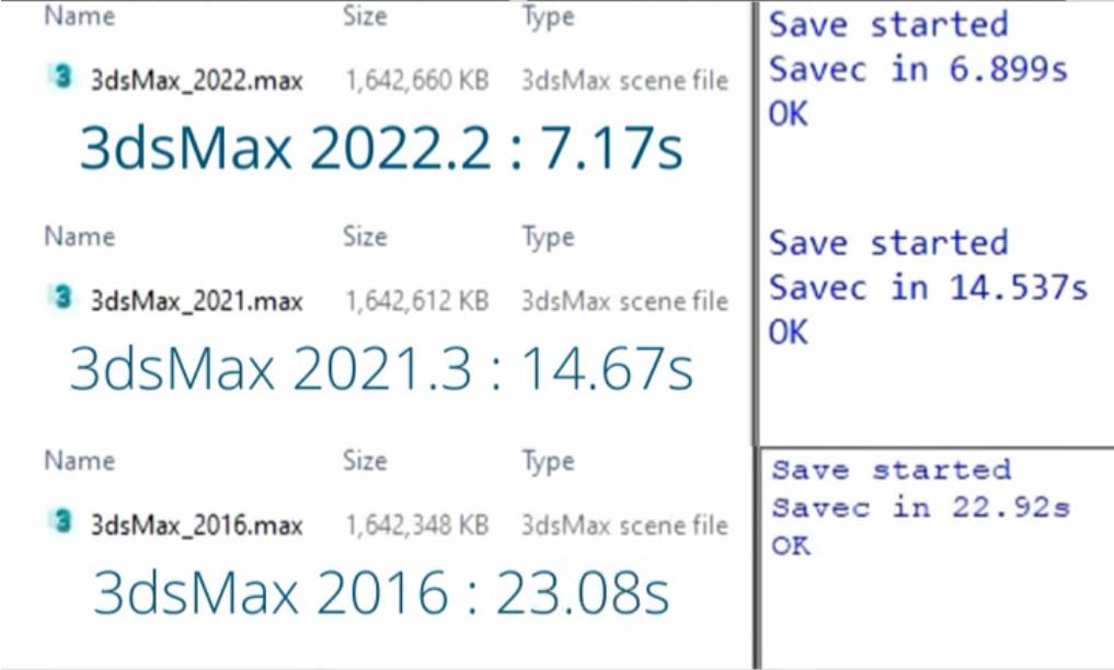 Scene file save 3ds max 2022